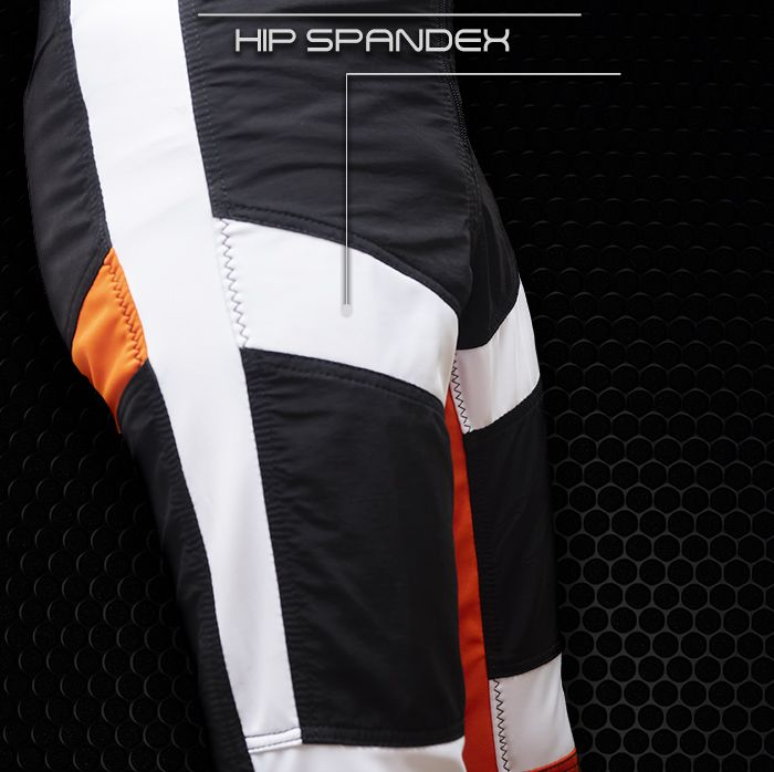 Vertex flex skydiving suit hip spandex