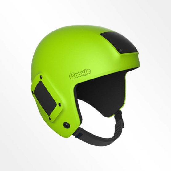 Cookie Fuel open face skydiving helmet lime green