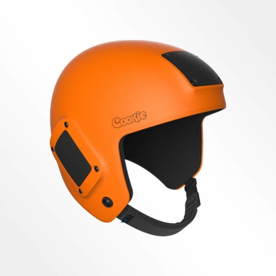 Cookie Fuel open face skydiving helmet orange