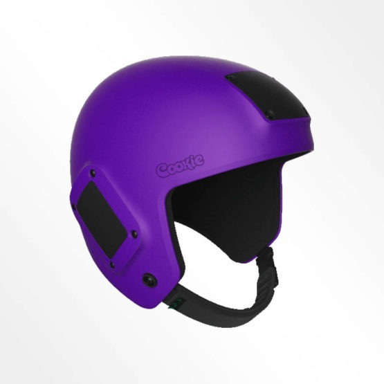 Cookie Fuel open face skydiving helmet purple