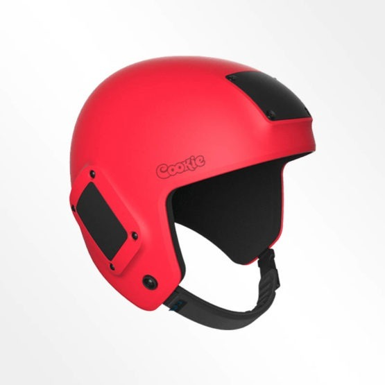 Cookie Fuel open face skydiving helmet red