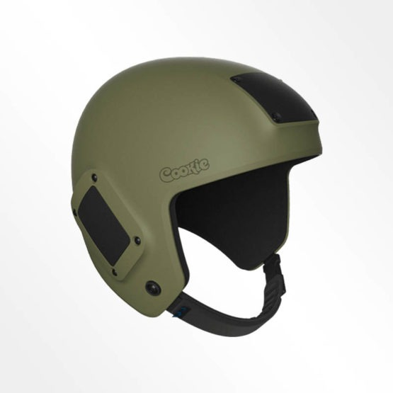 Cookie Fuel open face skydiving helmet tactical green