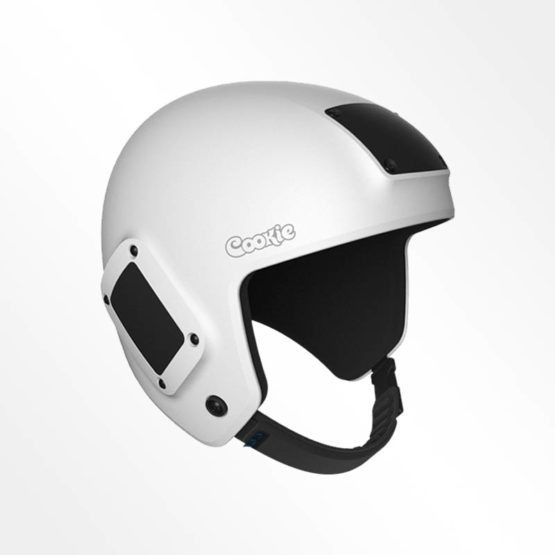 Cookie Fuel open face skydiving helmet white
