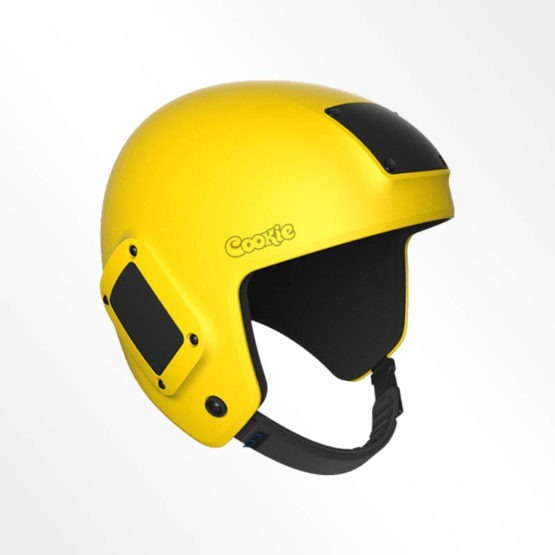 Cookie Fuel open face skydiving helmet yellow