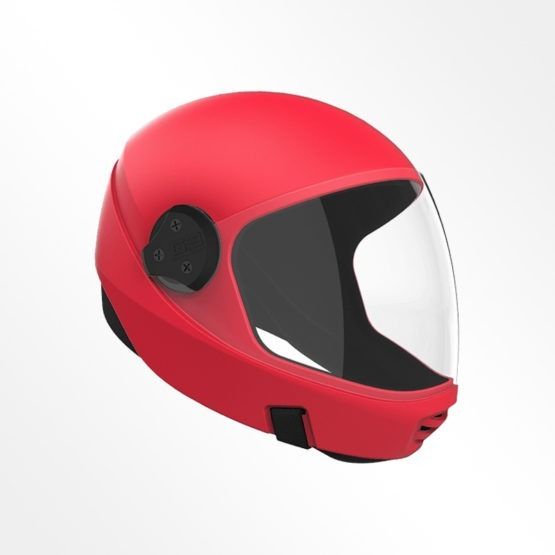 Cookie G3 skydiving helmet Red