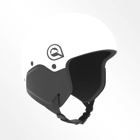 Cookie M3 impact rated skydiving helmet in White