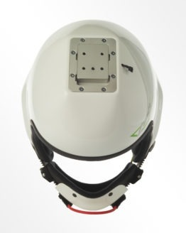 Tonfly 2X camera helmet white top view