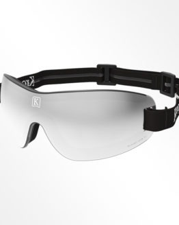 Kroops IK91 skydiving googles grey lens black strap