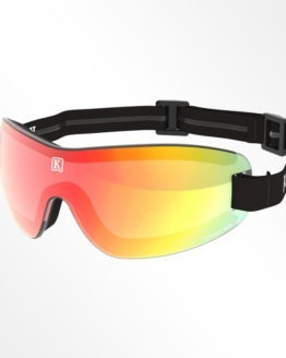 Kroops IK91 skydiving goggles with red lens and black strap