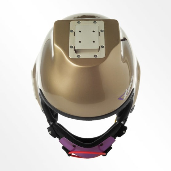 Tonfly 2.5x camera helmet top view