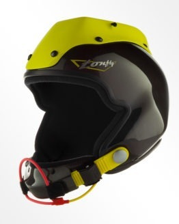 Tonfly 3x camera helmet black and yellow