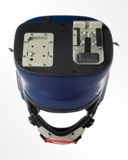 Tonfly CC2 blue camera helmet top view