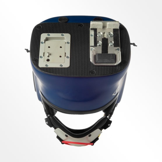Tonfly CC2 blue camera helmet top view