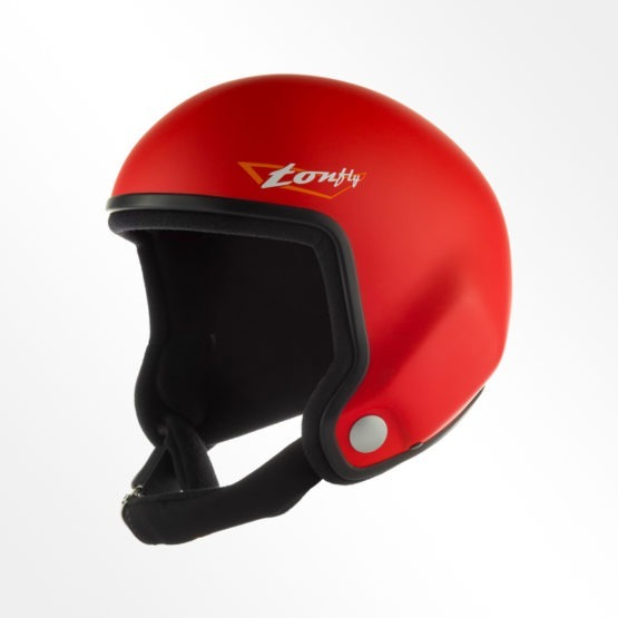 Tonfly performer open face helmet side view red